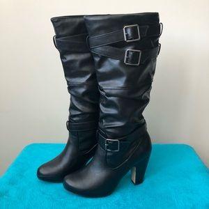 Madden Girl Black Heeled Boots